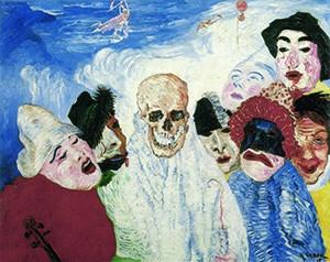 James Ensor, De dood en de maskers, 1897.