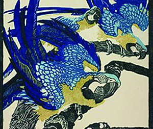Jungnickel Drei blaue Ara, 1909