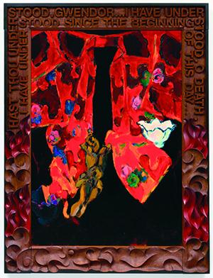 Rode kimono, Hans van Hoek, 1982.