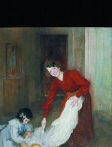 Lluïsa Vidal, Las amas de casa (1905), te zien in het Museu Nacional d'Art De Catalunya in Barcelona.